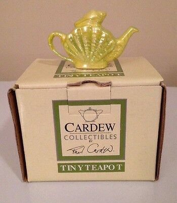 Miniature Cardew Tiny Shell Teapot Collectable! NIB