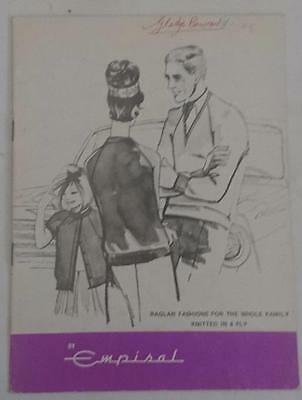 Empisal Knitting Machine Pattern Book - Raglan Fashions for the Family in 4 ply
