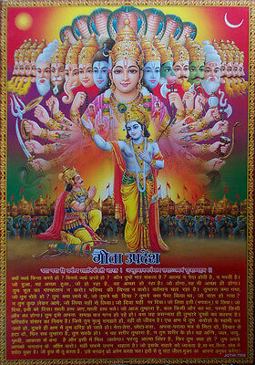 Lord Krishna Geeta Updesh Saar (in Hindi) - POSTER (Big Size 20x30 Inch)