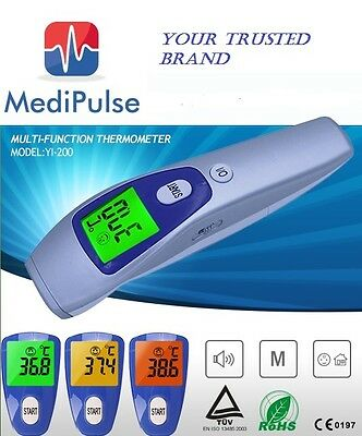 Non Contact Infrared Fever Thermometer Measures Body or Objects Temp in C or F