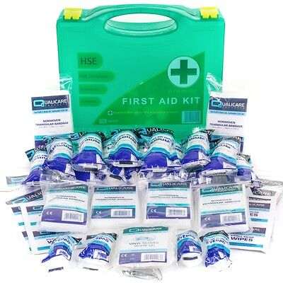 PREMIER HSE APPROVED FIRST AID KIT WALL BRACKET HARD BOX 1-50 Person Warehouse