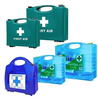 PREMIUM 1-50 EMPLOYEE HSE APPROVED FIRST AID CATERING KIT Pub/Cafe+Wall Bracket