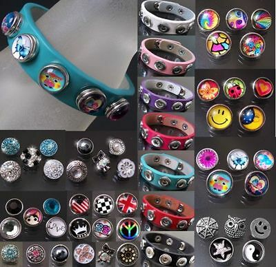VA20# Button bracelets Leather Poppers Click Children Women's Fashion