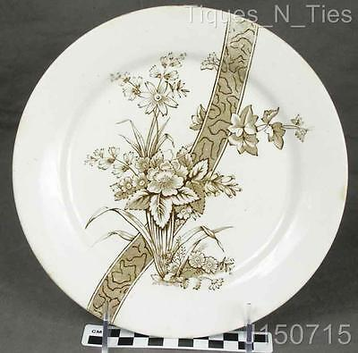 Antique Turner's Tunstall England Benedick Brown Transferware Aesthetic Plate JJ