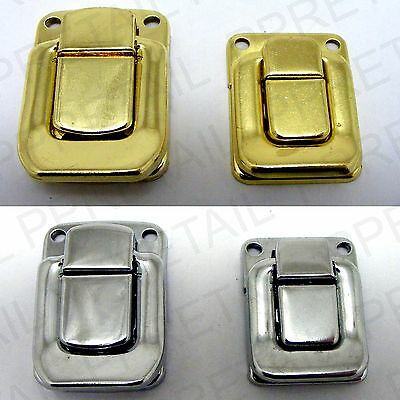 NEW TOGGLE CASE CATCH LATCH Trunk Box Chest Suitcase LARGE/SMALL In CHROME/BRASS
