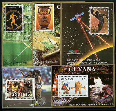 Guyana, Hoja Bloque, The Olympic - Barcelona 1992, (5).