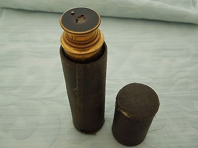 Great Quality Original 19th century Officers Telescope & Case, superb patina