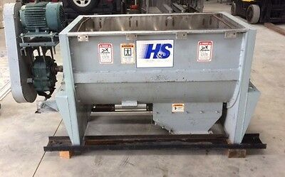 Used Hayes & Stoltz 15 Cubic Foot Stainless Steel Double Ribbon Blender