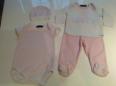 Baby Girls Gucci Set In Age 9 Months