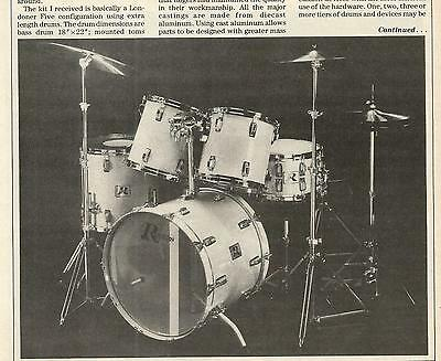 Vintage Rogers XL (Extra Length) Drums Review article ad