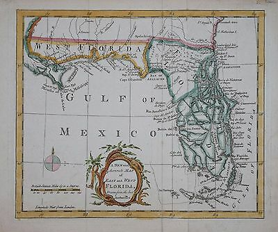 A New And Accurate Map Of East And West Florida  Published 1765