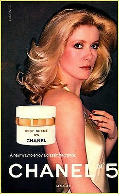 Catherine Deneuve for Chanel No 5 Perfume, 1979 PRINT AD AD573004