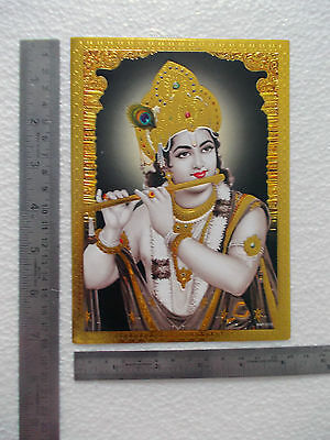 "Lord Shree KRISHNA - Golden Foil Effect POSTER (5""x7"")"