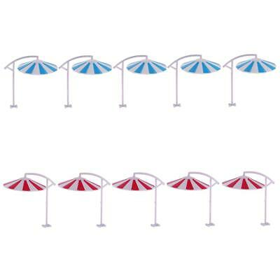 10Pcs Model Sun Umbrella Parasol Train Railway Beach Garden Layout 1/100 Toy