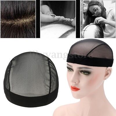 Mesh Wig Cap for Wig Making Adjustable Weaving Wig Caps with Elastic Band Black
