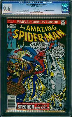 Amazing Spider-Man # 165  Stegron Stalks the City !  CGC 9.6  scarce book !