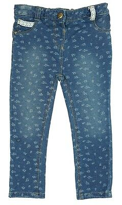 Girls Baby Toddler All Over Ditsy Flower Print Denim Jeans 6 Months to 4 Years