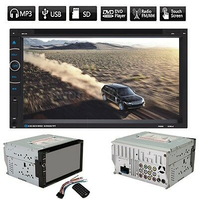 7'' Double 2 DIN In Dash Car Stereo MP3 DVD CD Player USB  Bluetooth SD FM Radio