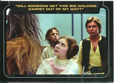 Star Wars Galactic Files 2 Classic Lines Chase Card CL-1 Princess Leia Organa