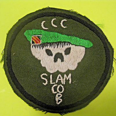 VINTAGE US MILITARY VIETNAM WAR SPECIAL FORCES GREEN BERET PATCH CCC SLAM Co. B