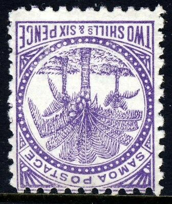 SAMOA 1890-95 2s.6d. Purple P11 Wmk 7mm VARIETY INVERTED WATERMARK SG 64w MINT