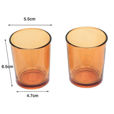 120 x Amber Clear Glass Votive TeaLight Candle HOLDER ONLY