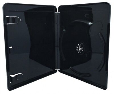 (SAMPLE) - 1 PREMIUM GLOSSY Black Blu-Ray Single DVD Cases 14MM