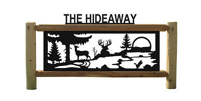 Deer -Clingermans Outdoor Signs-Archery-Wildlife Art-Rustic Log Decor #15407