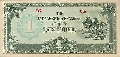 1 One Pound Oceania Japanese Invasion Money Banknote Bill Note Cash Jim Wwii Ww2