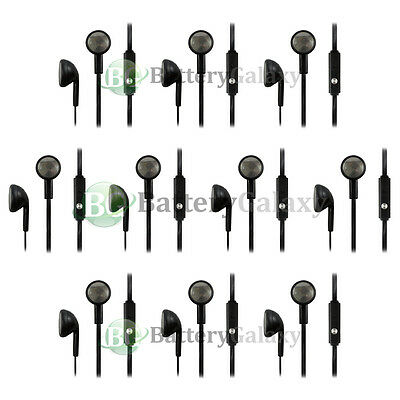 10 Headphone Earphone Headset Handsfree 3.5mm for iPhone / Android Cell Phone