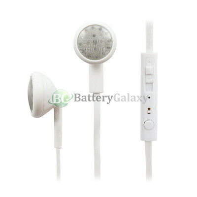 100 Headphone Earphone Headset Handsfree Mic Volume for iPhone / Android Phone