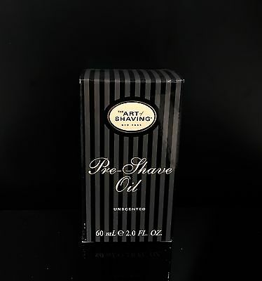 The Art of Shaving UNSCENTED PRE-SHAVE OIL 2 OZ (New in Box)