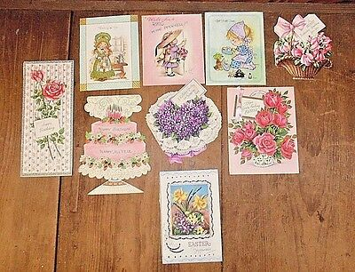 Lot of Vintage 1950's Cards Tops Only Rust Craft Embossed, Glitter