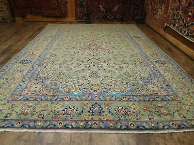 C1930VGDY ANTIQUE PERSIAN SIGNED NAEIN NAIN ESFAHAN DESIGN 8x11 ESTATE SALE RUG