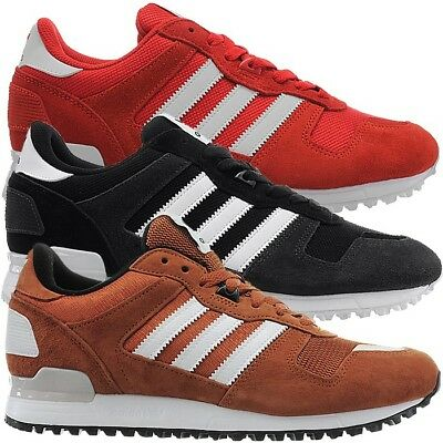 newest d4e5f e2f1f ADIDAS ZX 700 men's athletic retro sneakers black or red casual shoes suede  NEW
