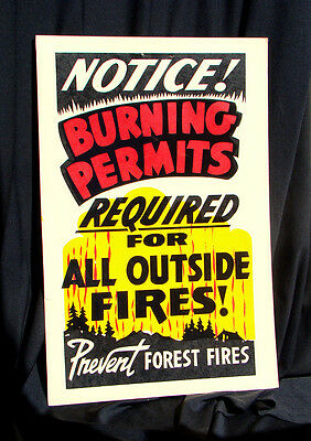POSTER * CALIFORNIA DIVISION of FORESTRY Burning Permits PREVENT FOREST FIRES 2
