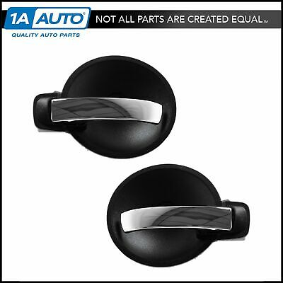 Door Handle Inner Black & Chrome Front or Rear Pair Set for Charger Magnum NEW