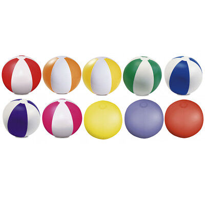10 x COLOUR INFLATABLE BLOW UP PANEL BEACH BALL HOLIDAY SWIMMING POOL PARTY FUN