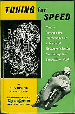 Tuning for Speed Phil Irving 1960 Norton BSA Triumph Motorcycle Book Manual