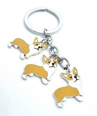 Corgi Lovers Key Chain or Purse Charm 3 lovely Corgi Dogs