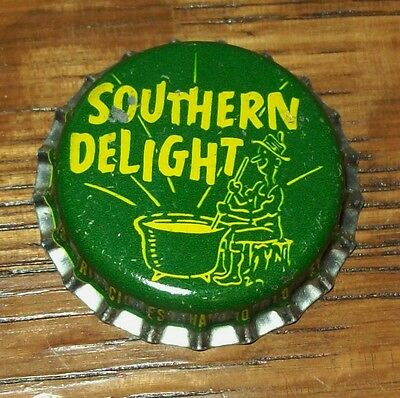 Vintage 1950's Southern Delight Hillbilly Unused Soda Pop Bottle Cap Cork