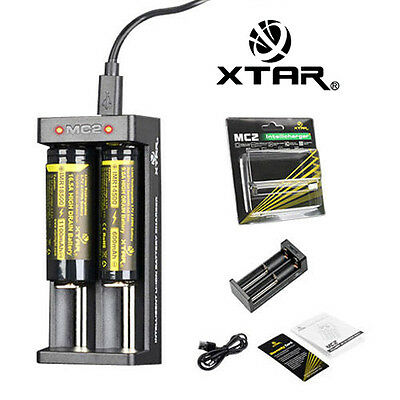 Xtar MC2 1-Arbre Usb-Chargeur Li-ION F. Batteries ( Cr123a ) 18650.. 26650 LD492