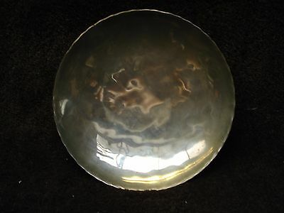 Arts And Crafts Style - Hand Beaten Three Footed Bright Metal Bowl