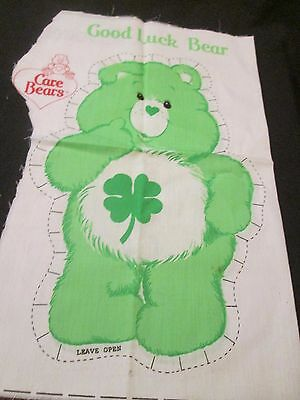 Vintage Care Bears Set 3 Pillow Material Fabric Good Luck Grumpy Friend Bear