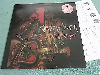 Christian Death The Heretics Alive Goth Limited Edition Numbered Gatefold Rock