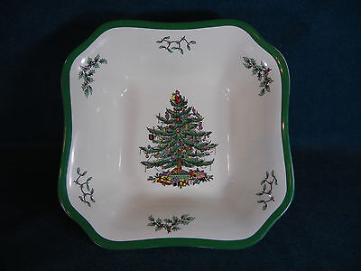 "Spode Christmas Tree 9 1/4"" Square Serving Bowl -  England"