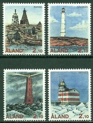 Aland Scott #64-67 MNH Lighthouses CV$31+
