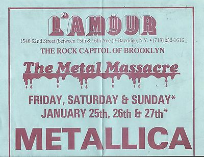 Metallica WASP Armored Saint Concert Poster Heavy Metal W.A.S.P WASP