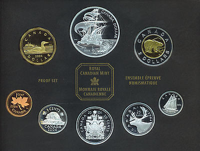 Canada 2004 Double Dollar Coin Proof Set Sterling Silver First French Settlement