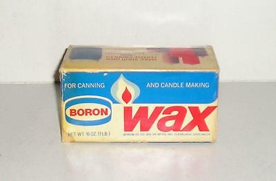 Vintage Boron Wax Div. Of Bp Oil Inc. Cleveland, Ohio - Canning & Candle Making